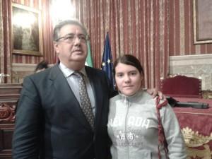 Alumna de 3ºA participa en entrega premio al Ayuntamiento de Sevilla